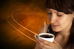Beautiful Woman With Coffee. Royalty Free Stock Images