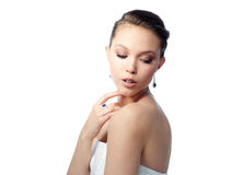 Free Beautiful Woman With Earring, Ring And Pendant Stock Photos - 71305813