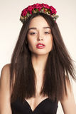 Beautiful Woman With Flower S Headband Stock Images