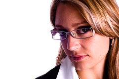 Beautiful Woman With Glasses Stock Photo