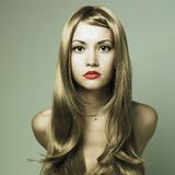 Beautiful Woman With Magnificent Blond Hair Royalty Free Stock Images
