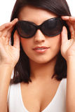 Beautiful Woman With Sunglasses Royalty Free Stock Photography