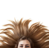 Beautiful Woman With Wonderful Hair Royalty Free Stock Photography