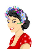 Beautiful Woman With Wreath Royalty Free Stock Image