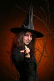 Beautiful woman witha pumpkin in the hands Royalty Free Stock Image