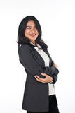 Beautiful woman withgood job and success careers Royalty Free Stock Photography