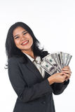 Beautiful woman withgood job and success careers Royalty Free Stock Photos