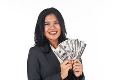 Beautiful woman withgood job and success careers Royalty Free Stock Images