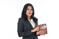 Beautiful woman withgood job and success careers Royalty Free Stock Image
