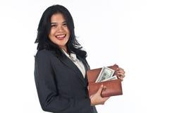 Beautiful woman withgood job and success careers Stock Photo