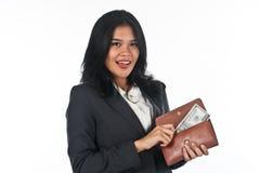 Beautiful woman withgood job and success careers Stock Image