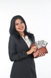 Beautiful woman withgood job and success careers Stock Photography