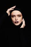 Beautiful woman.woman face like a mask.beauty Stock Photo