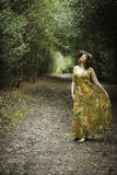 Beautiful woman in a woodland Royalty Free Stock Photo