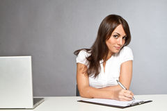 Beautiful woman working Stock Photo