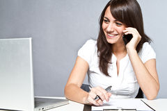 Beautiful Woman Working Stock Photos