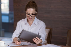 Beautiful woman working project in an office Stock Photography