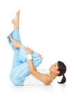 Beautiful woman working out Royalty Free Stock Photos