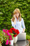 Beautiful woman working Royalty Free Stock Photo