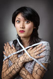 Beautiful woman wrapped net Royalty Free Stock Photography