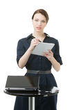 Beautiful woman writing notes in a notebook Royalty Free Stock Photography