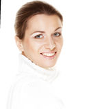 Beautiful woman& x27;s face with clean skin Stock Photos