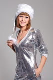 Beautiful woman in xmas dress Royalty Free Stock Photos