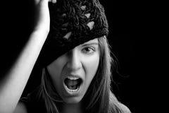Beautiful woman yelling Royalty Free Stock Image