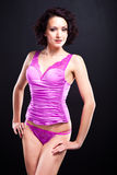 Beautiful womanin pink lacy underwear Royalty Free Stock Photos