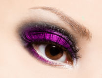 Beautiful womanish eye Stock Images