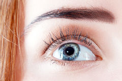 Beautiful womanish eye Royalty Free Stock Images
