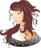 Beautiful women. Beautiful girl, brown hair, urban style, black eyes Royalty Free Stock Photos