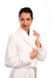 Beautiful women in bathrobe Stock Photos