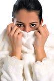 Beautiful women in bathrobe Royalty Free Stock Image