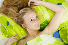 Beautiful women in bed. Stock Image
