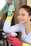 Beautiful women cleaning the house Royalty Free Stock Photo