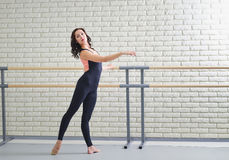 Beautiful women dancer practicing ballet at dancing studio Stock Image