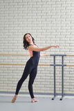 Beautiful women dancer practicing ballet at dancing studio Royalty Free Stock Photo