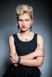 Beautiful women on dark background Stock Photography