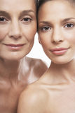 Beautiful Women Of Different Ages. Closeup portrait of beautiful women of different ages on white background Stock Photo