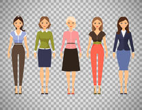 Beautiful women in different outfits Stock Photo
