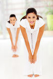 Women body exercise Stock Images