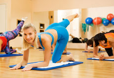 Beautiful women exercising Stock Photo