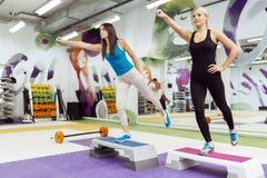 Beautiful women exercising aerobics Royalty Free Stock Photography