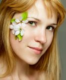 Beautiful women with flower make up Stock Photography