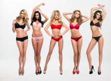 Beautiful women in full growth pose Stock Photo