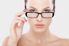 Beautiful women with glasses Royalty Free Stock Photography