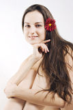 Beautiful women holding flover Royalty Free Stock Images