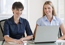 Beautiful Women with Laptop Royalty Free Stock Image