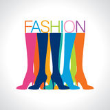 Beautiful women legs wearing high-heeled shoes vector illustration royalty free illustration